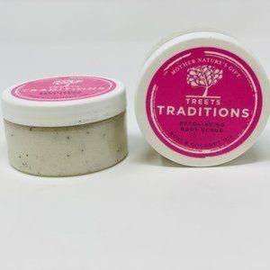 2 pk Treets Traditions Rose Exfoliating Body Scrub